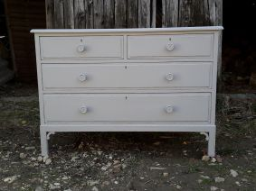 Chest of Drawers Painted and Waxed