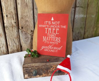 It's Not What's Under The Tree Sign