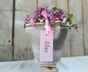 Painted Hanging Lilac Tag