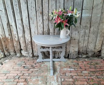 Painted Grey Hall Table