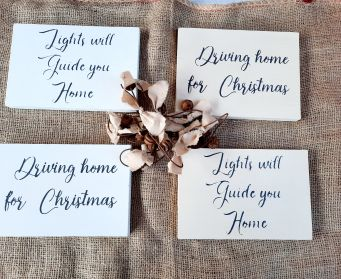 Double Sided Christmas Sign