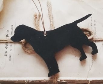 Small Hanging Black Labrador Decoration With No Ribbon