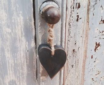 Graphite Hanging Heart