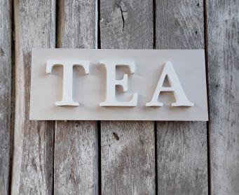 TEA Painted Wordboard