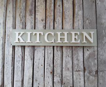 KITCHEN Painted Wordboard