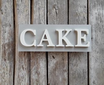 CAKE Sign Paris Grey and White