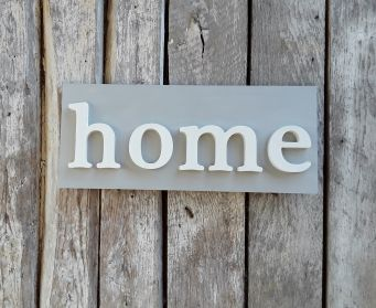 Painted Wooden home Sign Paris Grey and Old White