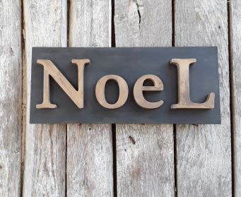 Painted NoeL Sign