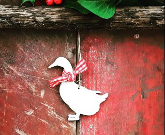Christmas Gertie Goose Hanging Decoration