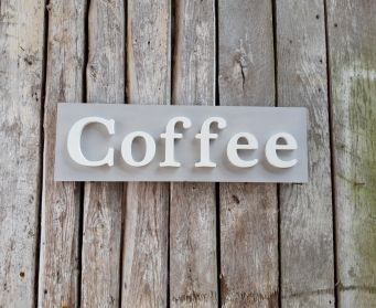 Painted Coffee Sign