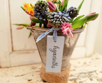 Painted Hyacinths Hanging Tag