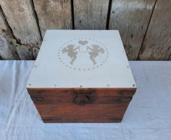 Rustic Box With Painted Lid