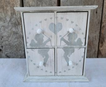 Mini Chest Of Drawers With Cherub Stencil