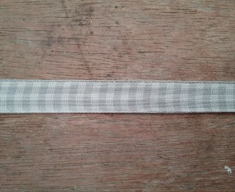Grey Gingham Ribbon