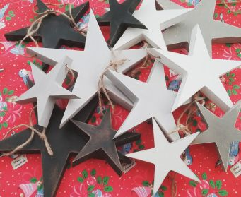 A Collection Of Hanging Star Decorations
