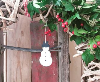 Hanging Wooden Christmas Snowmen Decorations