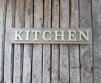 KITCHEN Painted Wordboard