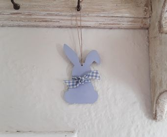 Handpainted Wooden Buccanears Bunny Hanging Decorations