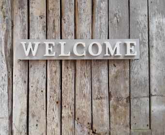Handpainted Wooden WELCOME Sign