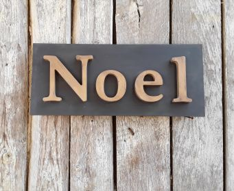 Handpainted Noel Sign
