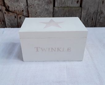 White Box With Twinkle And Star Stencils