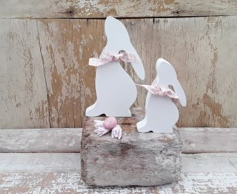 Moon Gazing Hare Decoration Old White