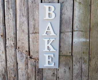 Vertical BAKE Sign