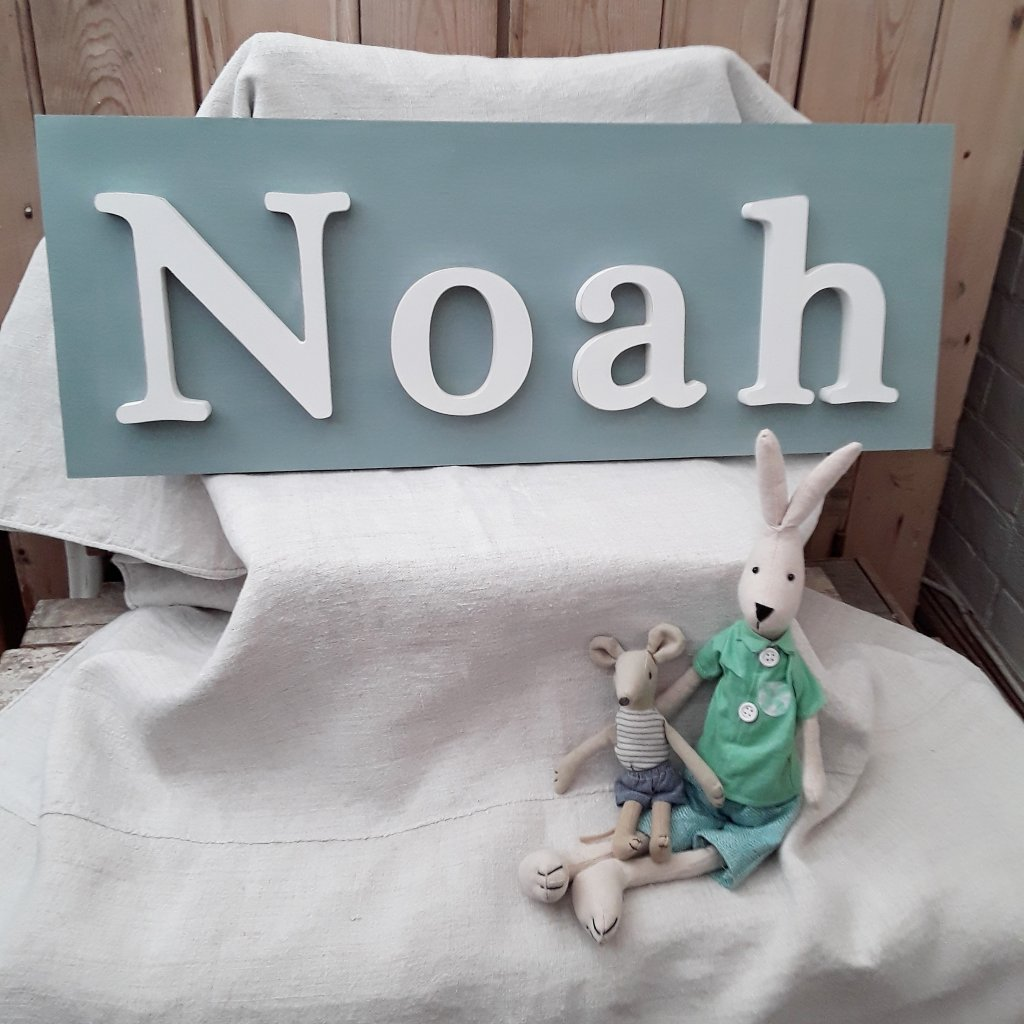 Painted Wooden Noah Sign