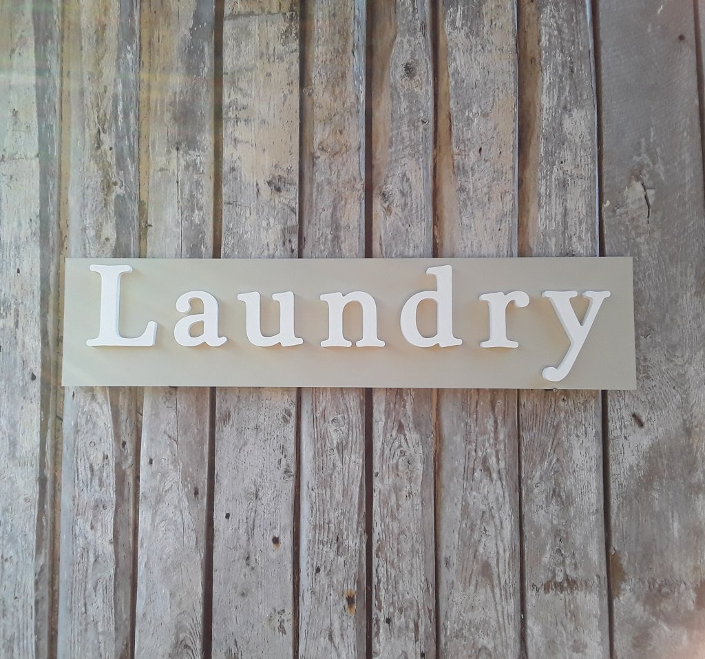 Painted Wooden Laundry Wordboard
